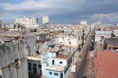哈瓦那高老屋顶v视图 库存照片