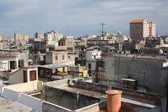 哈瓦那高i老屋顶视图 库存照片