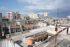 哈瓦那高ii老屋顶视图 免版税库存图片