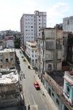 哈瓦那高iv老屋顶视图 图库摄影