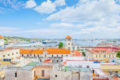 哈瓦那鸟瞰图口岸  库存图片