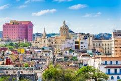 哈瓦那,古巴街市地平线 库存图片