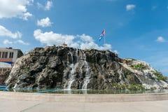 哈瓦那,古巴- 2017年10月23日:与瀑布的哈瓦那都市风景 免版税库存照片