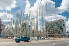 哈瓦那,古巴- 2017年10月23日:位于广场的何塞马蒂反帝国主义者平台d 库存照片