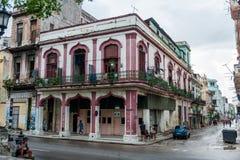哈瓦那,古巴- 2017年10月21日:哈瓦那建筑学,古巴 免版税图库摄影
