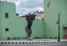 哈瓦那,古巴- 2017年10月20日:哈瓦那老镇和纪念碑 图库摄影