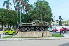 哈瓦那,古巴- 2017年10月23日:在革命博物馆前面的坦克在哈瓦那,古巴 库存图片