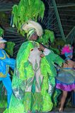 哈瓦那,古巴- 2018年1月04日:执行在Tropicana的舞蹈家 免版税库存图片