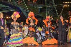 哈瓦那,古巴- 2018年1月04日:执行在Tropicana的舞蹈家 库存照片