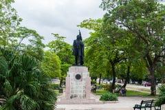 哈瓦那,古巴- 2017年10月21日:纪念碑和雕象在哈瓦那,古巴 库存照片