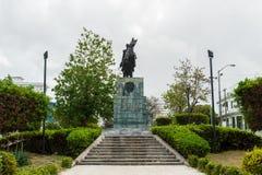 哈瓦那,古巴- 2017年10月21日:西蒙・波利瓦纪念碑和雕象在哈瓦那,古巴 免版税图库摄影