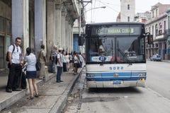 哈瓦那,古巴公共交通 库存图片