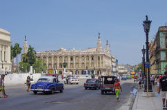哈瓦那,古巴- 2015年5月14日:艺术Museo Nacional de贝拉斯阿特斯国家博物馆看法设计了20世纪20年代 图库摄影