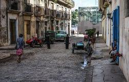 哈瓦那,古巴街道  免版税库存照片