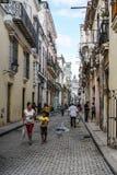 哈瓦那,古巴街道  库存照片
