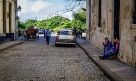 哈瓦那,古巴街道  免版税库存图片