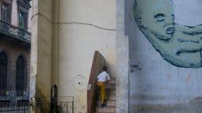 哈瓦那,古巴门面5 免版税库存照片