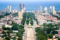 哈瓦那,空中 免版税库存照片