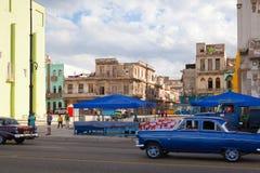 哈瓦那malecon Malecon是沿coa的一个宽广的广场 库存图片