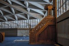 哈立德国王国际机场盛大清真寺 图库摄影