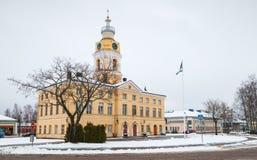 哈米纳城镇厅在冬天 免版税库存图片
