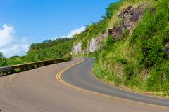 哈纳高速公路,毛伊夏威夷 免版税库存照片