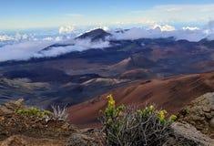 哈莱亚卡拉火山在毛伊 库存照片
