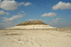 哈萨克人干草原峡谷 免版税库存图片