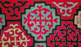 哈萨克人毛毡地毯4 免版税库存图片