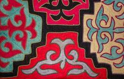哈萨克人毛毡地毯1 图库摄影