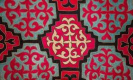 哈萨克人毛毡地毯3 免版税库存照片