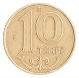 哈萨克人硬币坚戈 库存图片