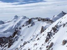 哈萨克斯坦山  高峰青年时期 库存图片