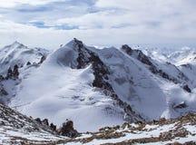 哈萨克斯坦山  高峰青年时期 免版税库存照片