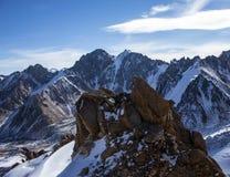 哈萨克斯坦山  高峰青年时期 免版税库存图片