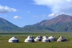 哈萨克斯坦帐篷 库存照片