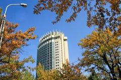 哈萨克斯坦旅馆在阿尔玛蒂,哈萨克斯坦 免版税库存照片