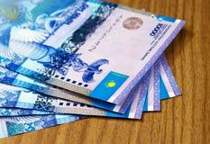 哈萨克斯坦钞票坚戈 库存图片