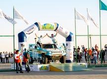 哈萨克斯坦阿克套- 2018年5月27日 开头FIA世界杯集会2018年哈萨克斯坦,阿克套 库存照片