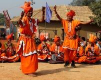 哈里亚纳邦,印度的耍蛇者民间音乐和舞蹈  库存照片