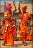 哈里亚纳邦,印度的耍蛇者民间音乐和舞蹈  库存图片