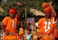 哈里亚纳邦,印度的耍蛇者民间音乐和舞蹈  免版税库存图片
