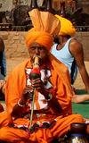 哈里亚纳邦,印度的耍蛇者 库存图片