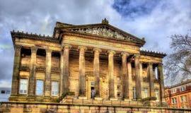 哈里斯博物馆和美术画廊在普雷斯顿 免版税库存图片