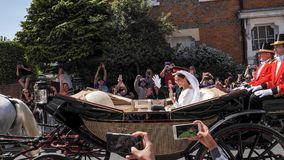 哈里,苏克塞斯公爵和Meghan,苏克塞斯事假的公爵夫人王子 免版税库存照片