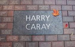 哈里Caray在里格利领域的进贡石头 库存图片