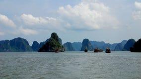 哈隆海湾风景 免版税库存图片