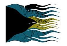巴哈马下垂波浪和Grunged 皇族释放例证