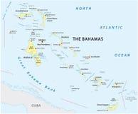 巴哈马共和国的地图 库存图片