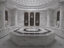 哈马姆温泉卫生间内部概念 库存照片